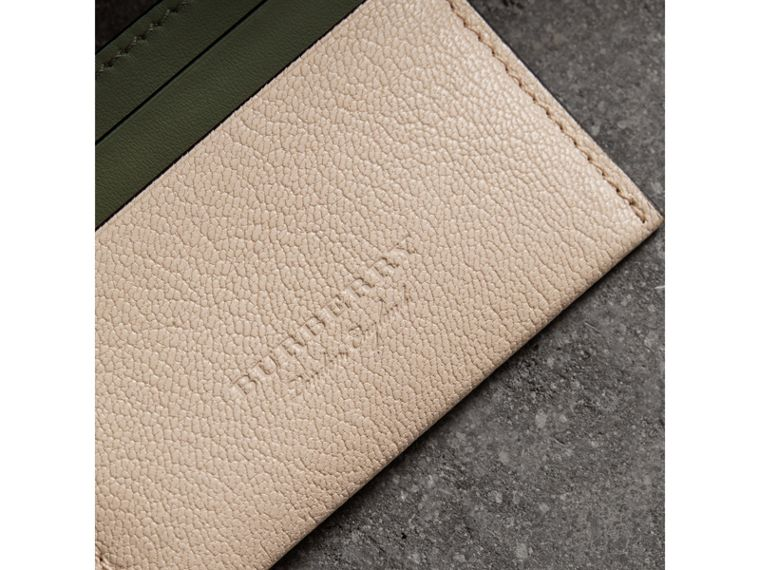 Two-tone Leather Card Case in Stone - Women | Burberry United Kingdom - cell image 1