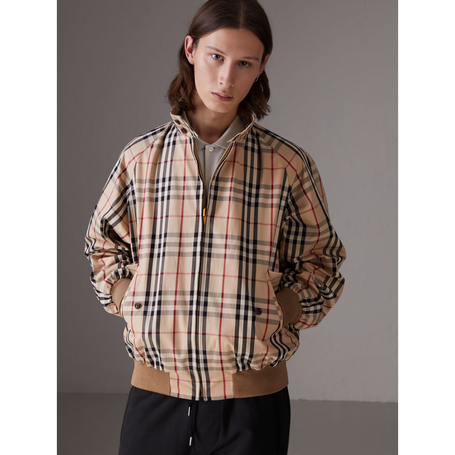 Gosha x Burberry Reversible Harrington Jacket in Honey | Burberry Australia - gallery image 2