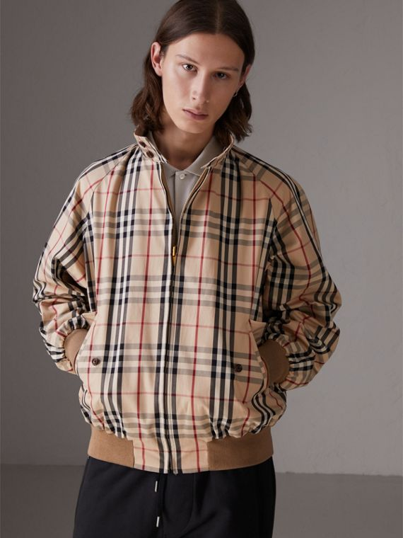 Gosha x Burberry Reversible Harrington Jacket in Honey | Burberry Australia - cell image 2