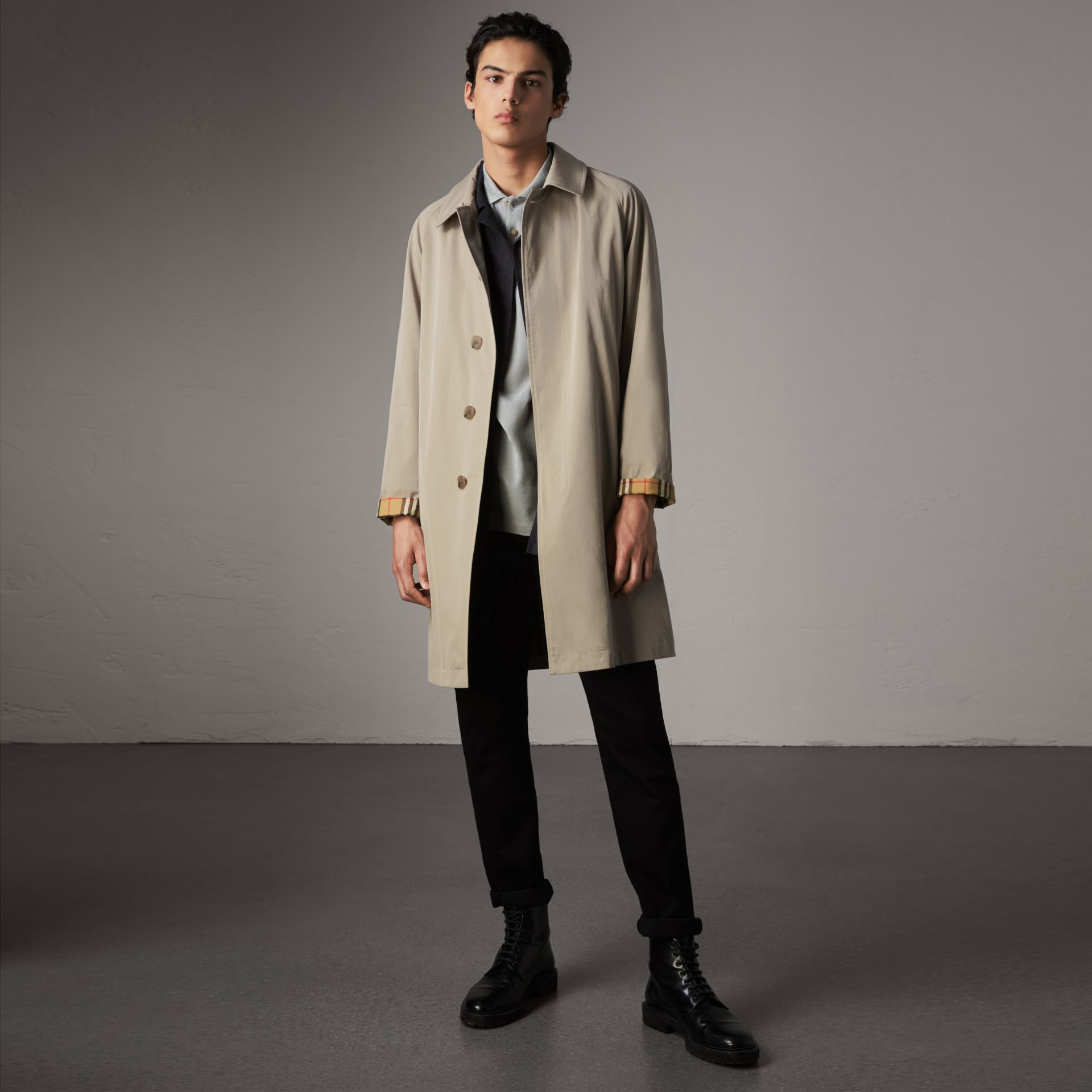 The Camden Car Coat in Sandstone - Men | Burberry - gallery image 0