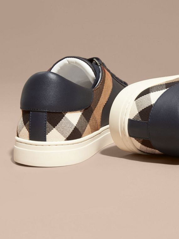 House check/vero navy Sneaker in pelle con motivo House check Check/vero Navy - cell image 3