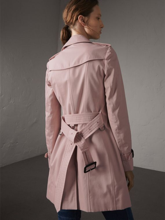 Cotton Gabardine Mid-length Trench Coat in Ice Pink - Women | Burberry - cell image 2