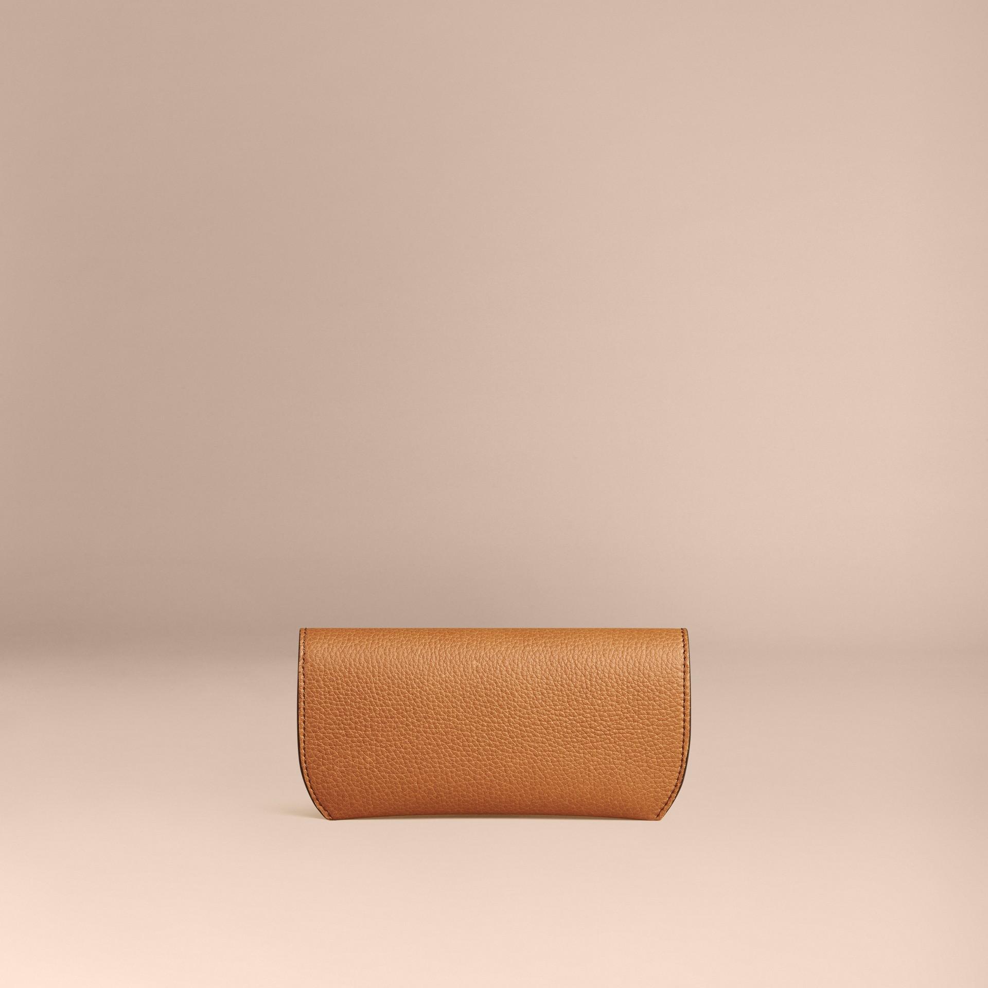 Tan Grainy Leather Eyewear Case Tan - gallery image 2