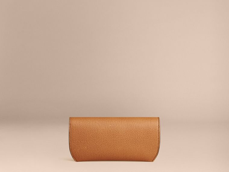 Tan Grainy Leather Eyewear Case Tan - cell image 1