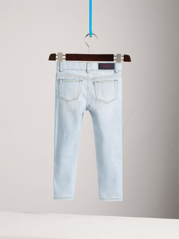 Skinny Fit Stretch Jeans in Light Blue - Boy | Burberry Canada - cell image 3
