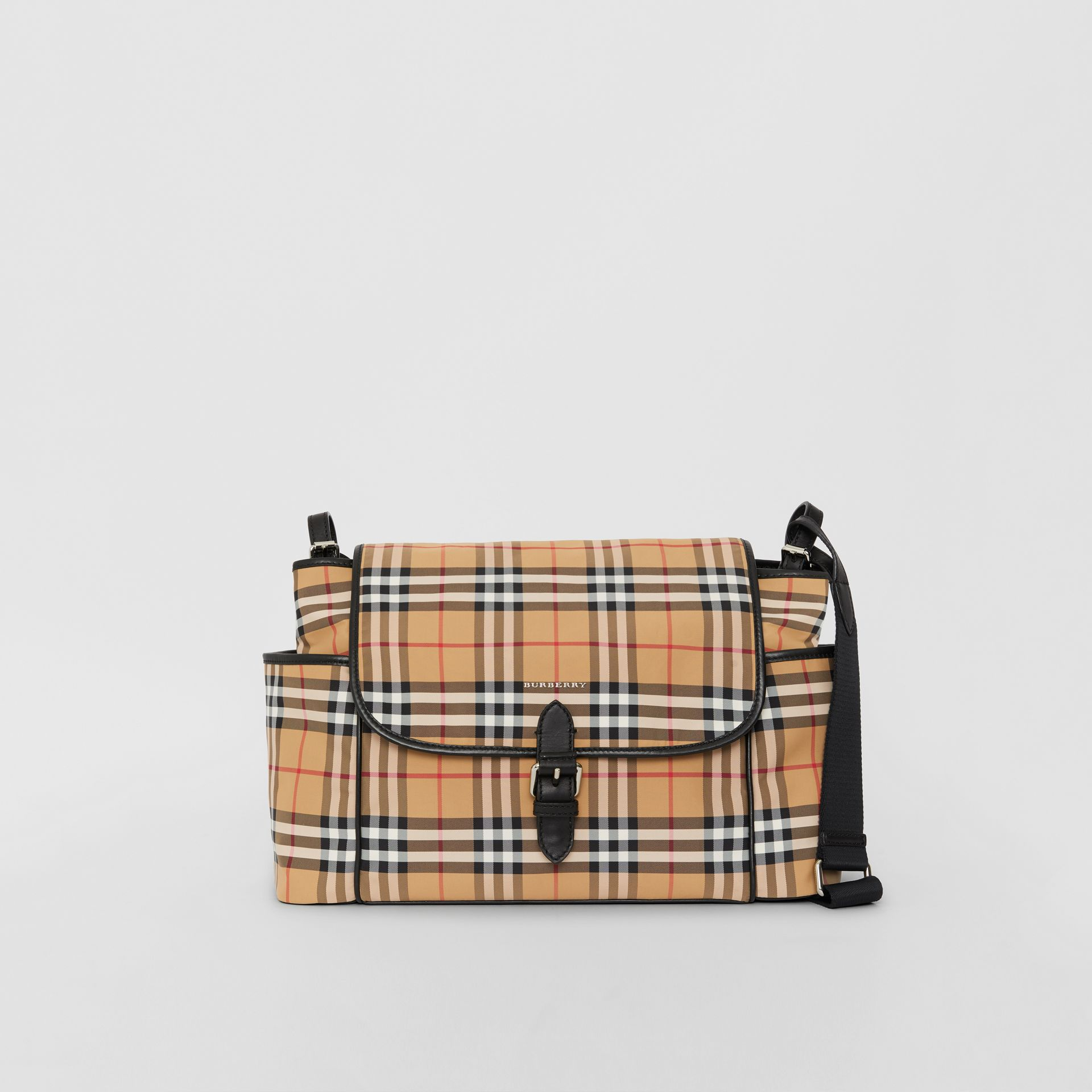 Vintage Check Baby Changing Shoulder Bag in Antique Yellow/black - Children | Burberry United Kingdom - gallery image 0