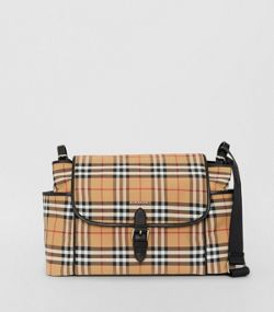 d200362a4 Vintage Check Baby Changing Shoulder Bag in Antique Yellow/black