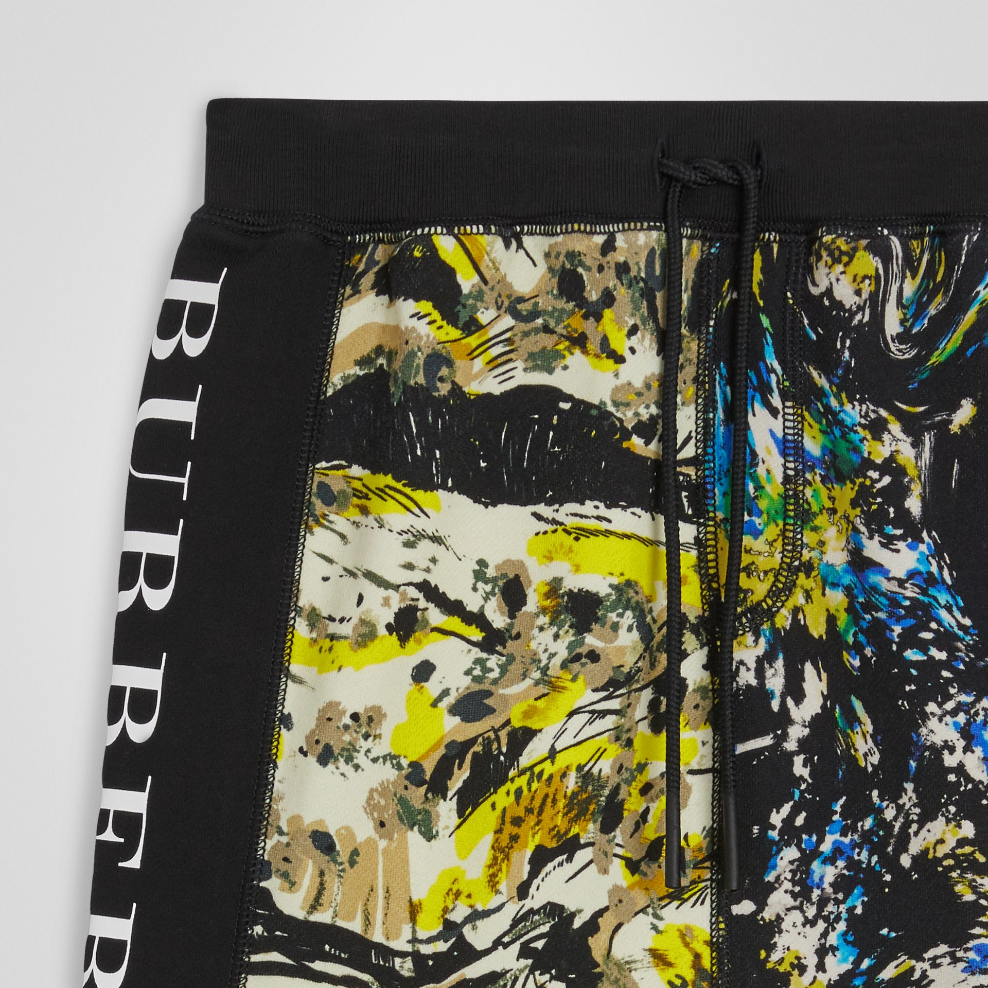 Graphic Print Cotton Drawcord Shorts in Multicolour | Burberry Singapore - gallery image 4