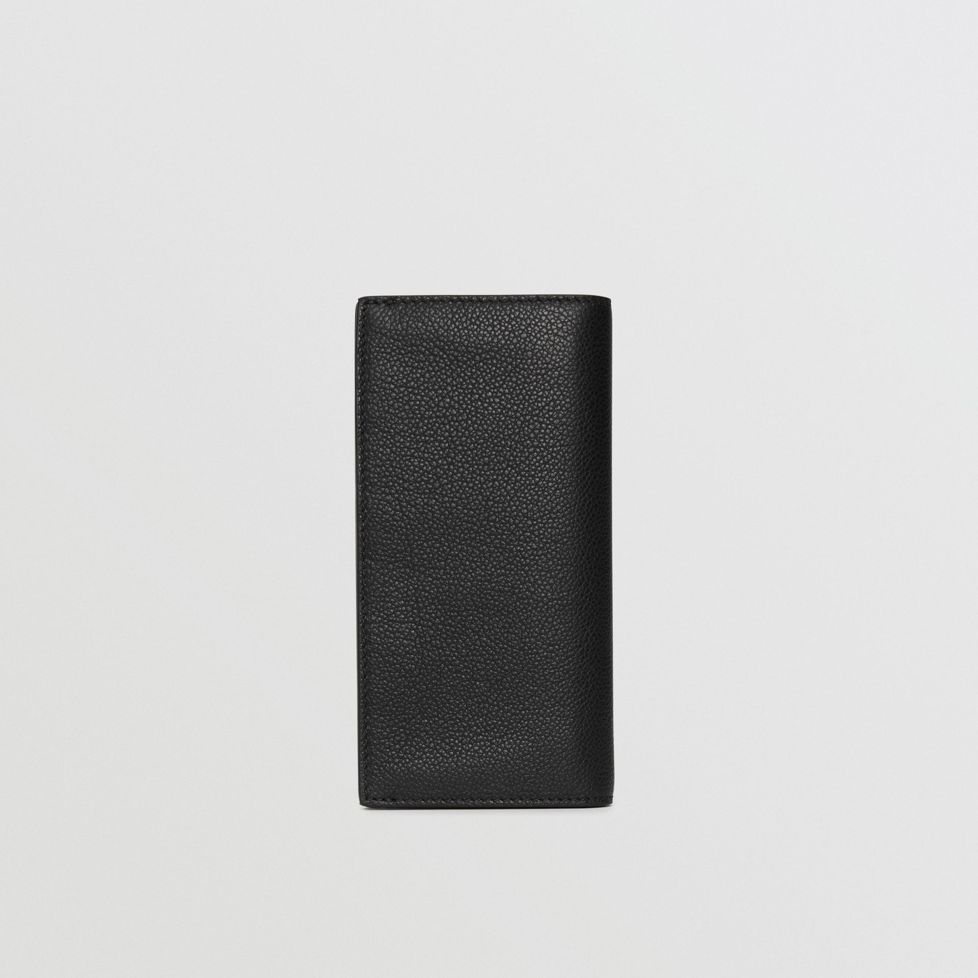 Grainy Leather Continental Wallet in Black - Men | Burberry Australia - gallery image 5
