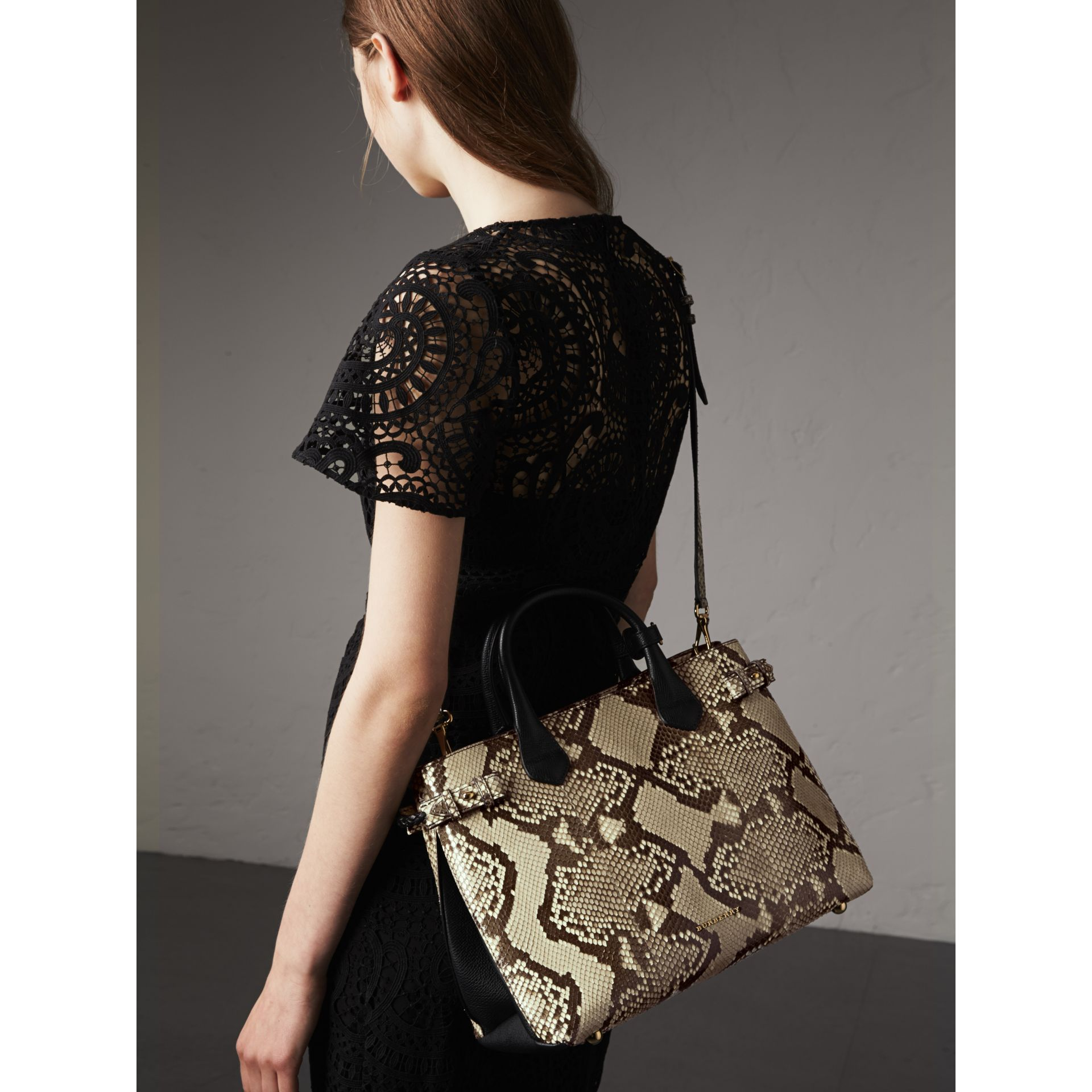 Sac The Banner medium en python - Femme | Burberry - photo de la galerie 3