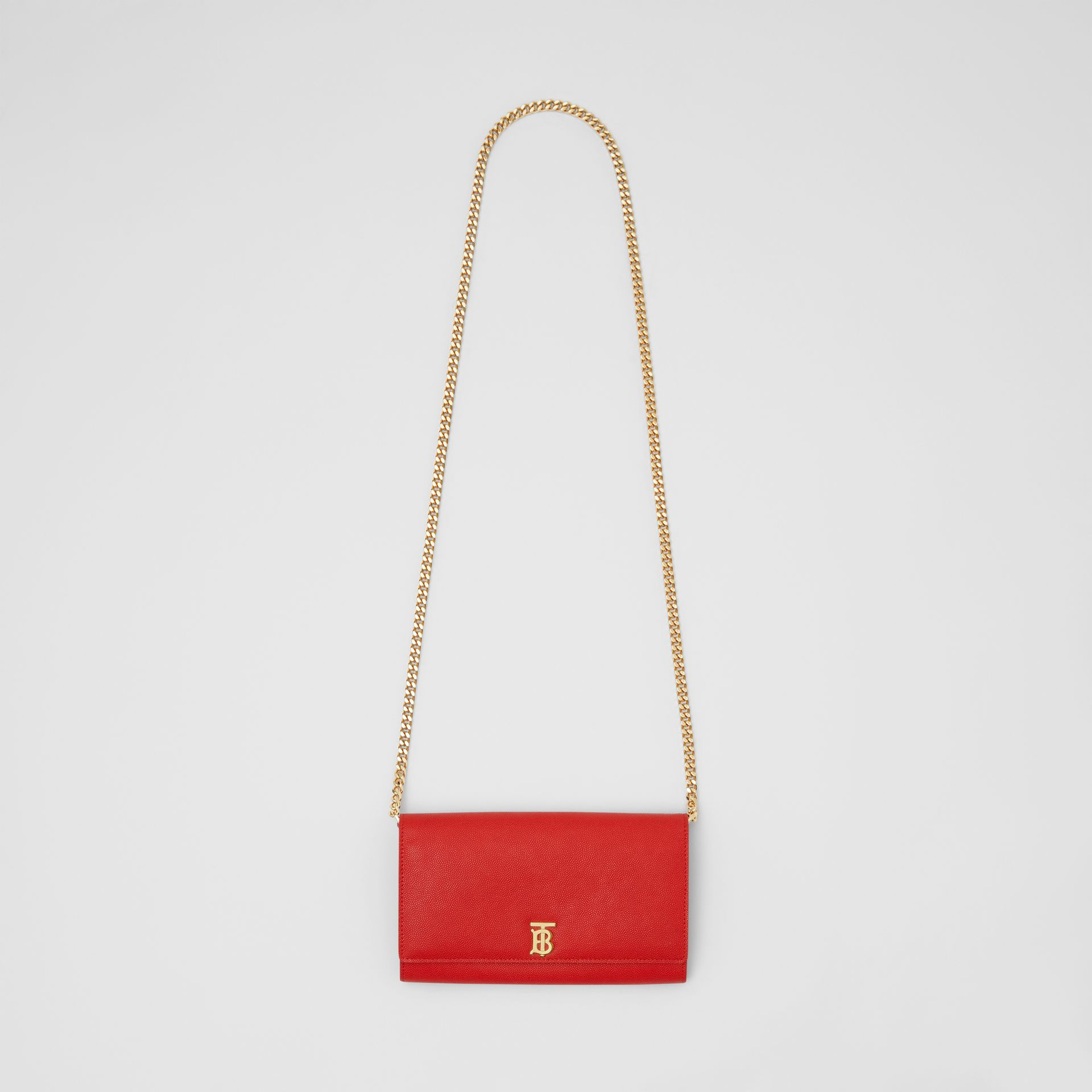 Portefeuille en cuir Monogram avec sangle amovible (Rouge Vif) - Femme | Burberry - photo de la galerie 2