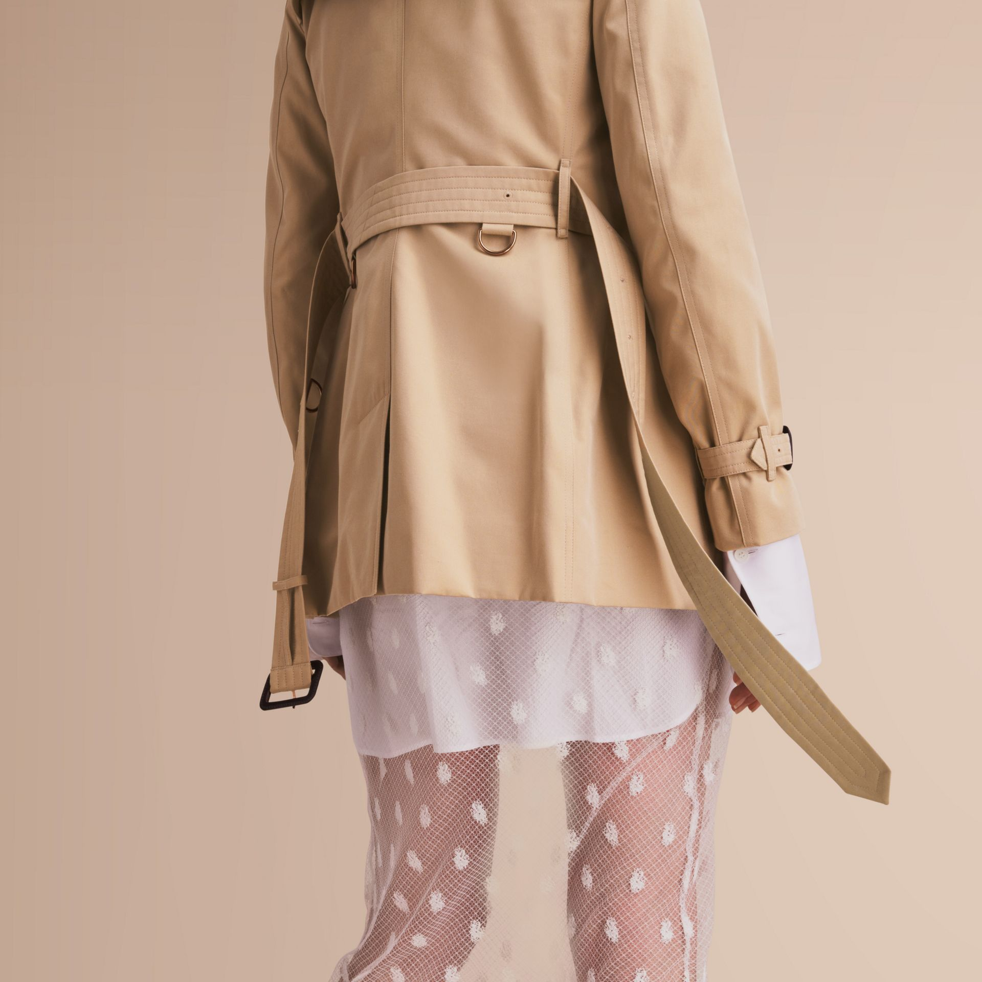 The Kensington – Short Heritage Trench Coat Honey - gallery image 5