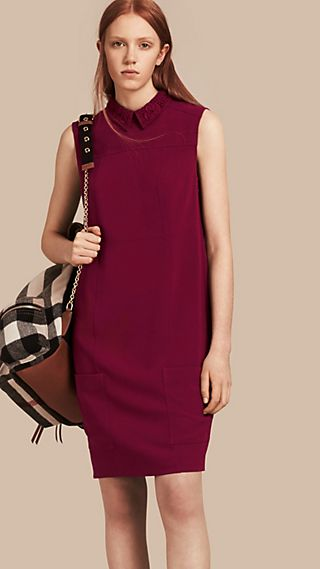 Sleeveless Lace Collar Dress