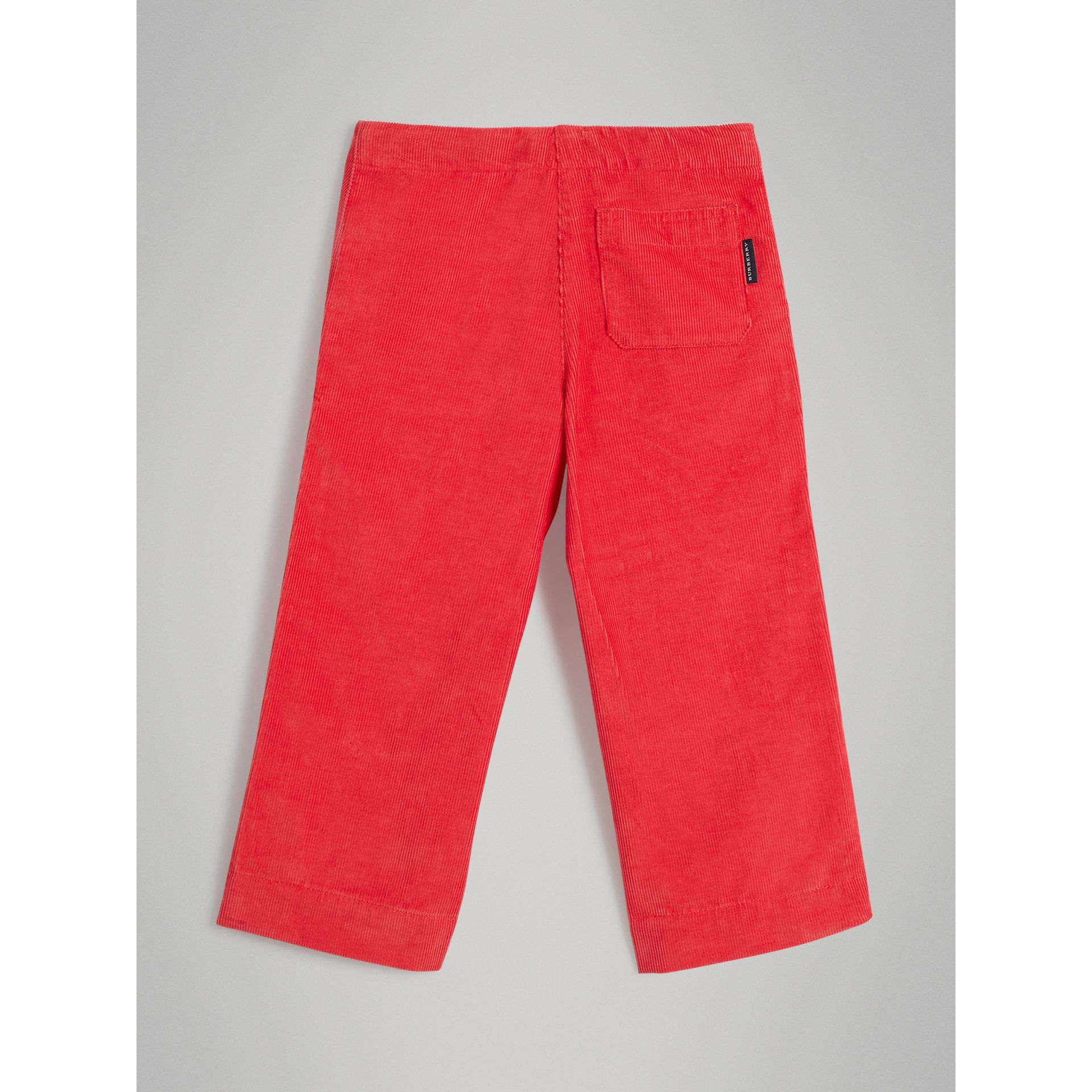 Pantalon ample en velours côtelé (Rouge Orangé Vif) - Fille | Burberry - photo de la galerie 3