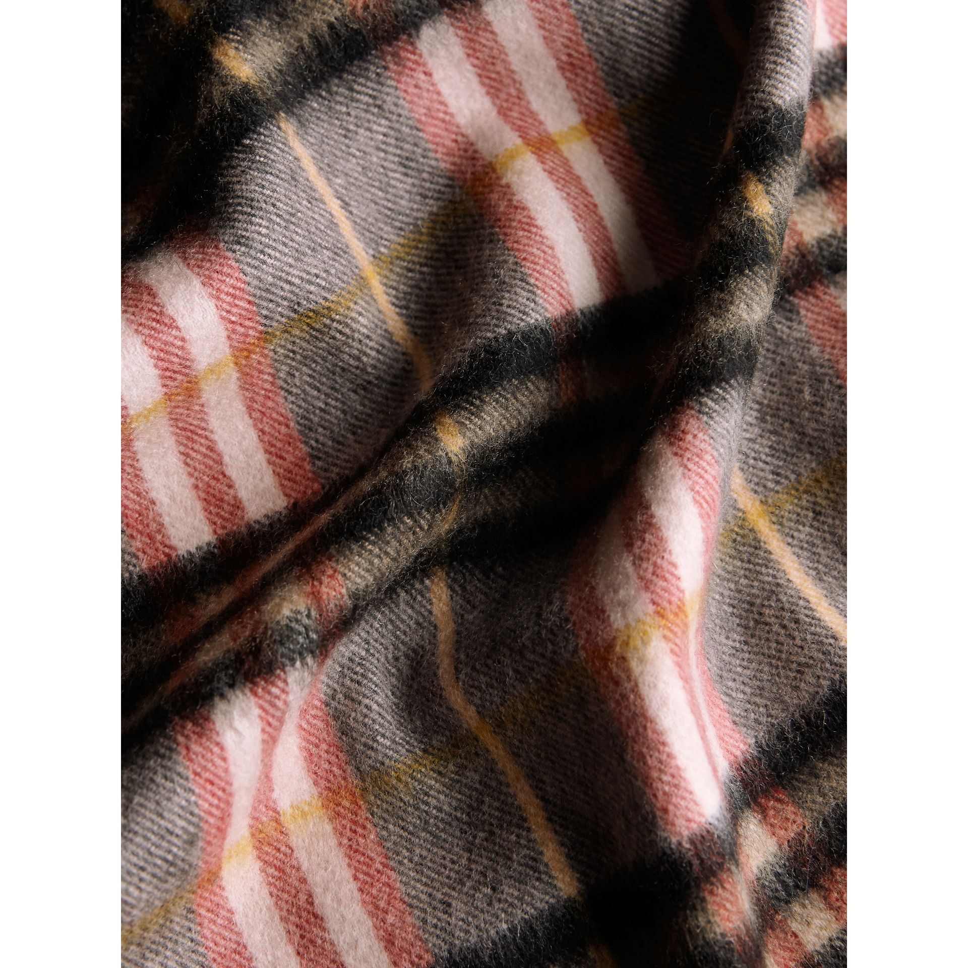 Check Cashmere Scarf in Ash Rose | Burberry Australia - gallery image 5