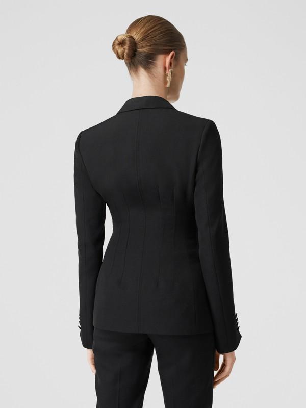 Giacca sartoriale in lana con finiture in seta (Nero) - Donna | Burberry - cell image 2