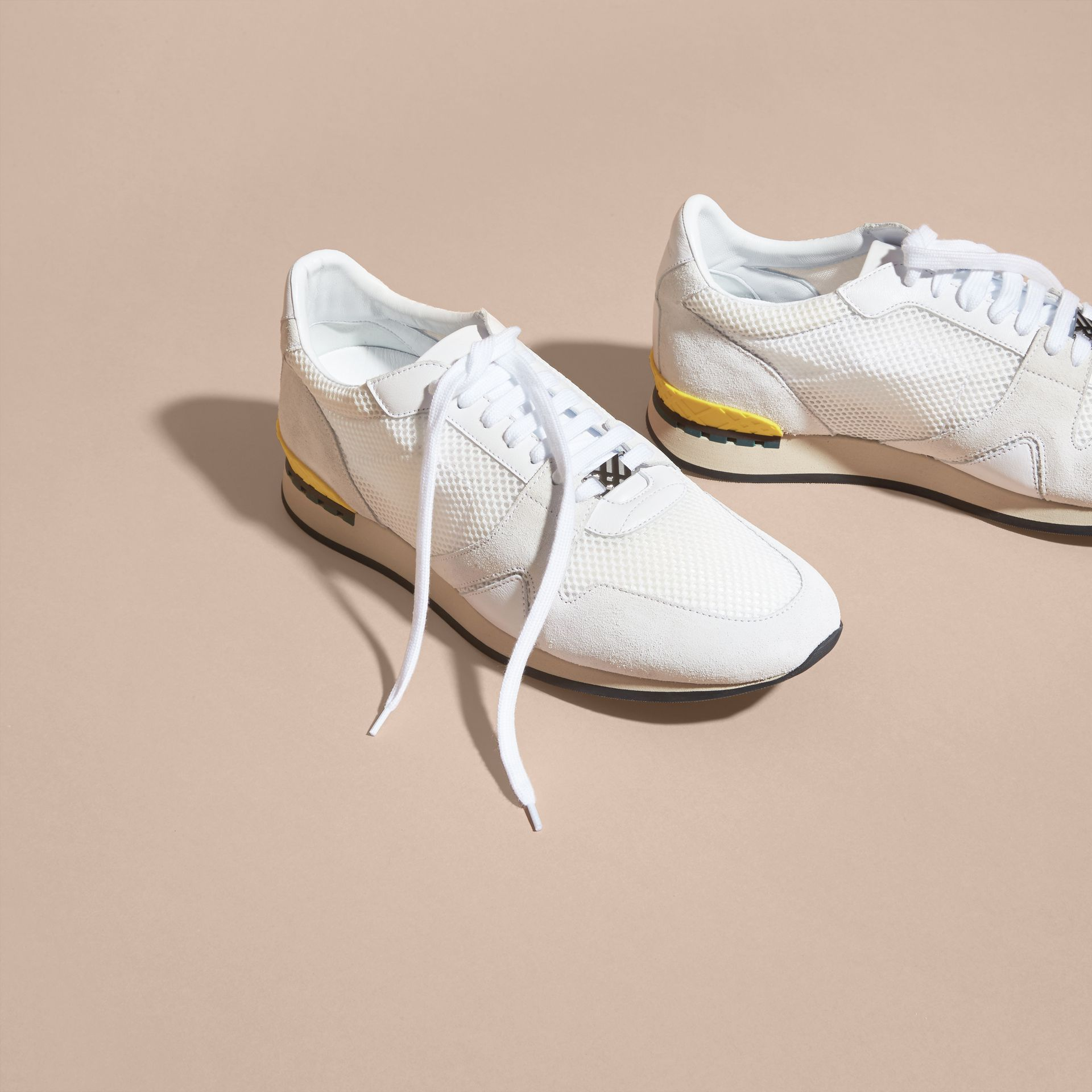 White The Field Sneaker in Suede and Mesh White - gallery image 3