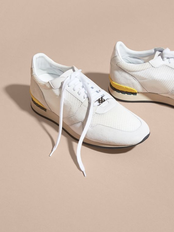 White The Field Sneaker in Suede and Mesh White - cell image 2