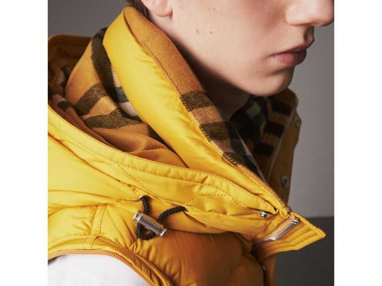 Detachable-sleeve Down-filled Puffer Jacket in Amber Yellow - Men | Burberry - cell image 4