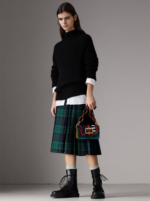 The Patchwork in Exotics and Knitted Wool in Multicolour - Women | Burberry Australia - cell image 2