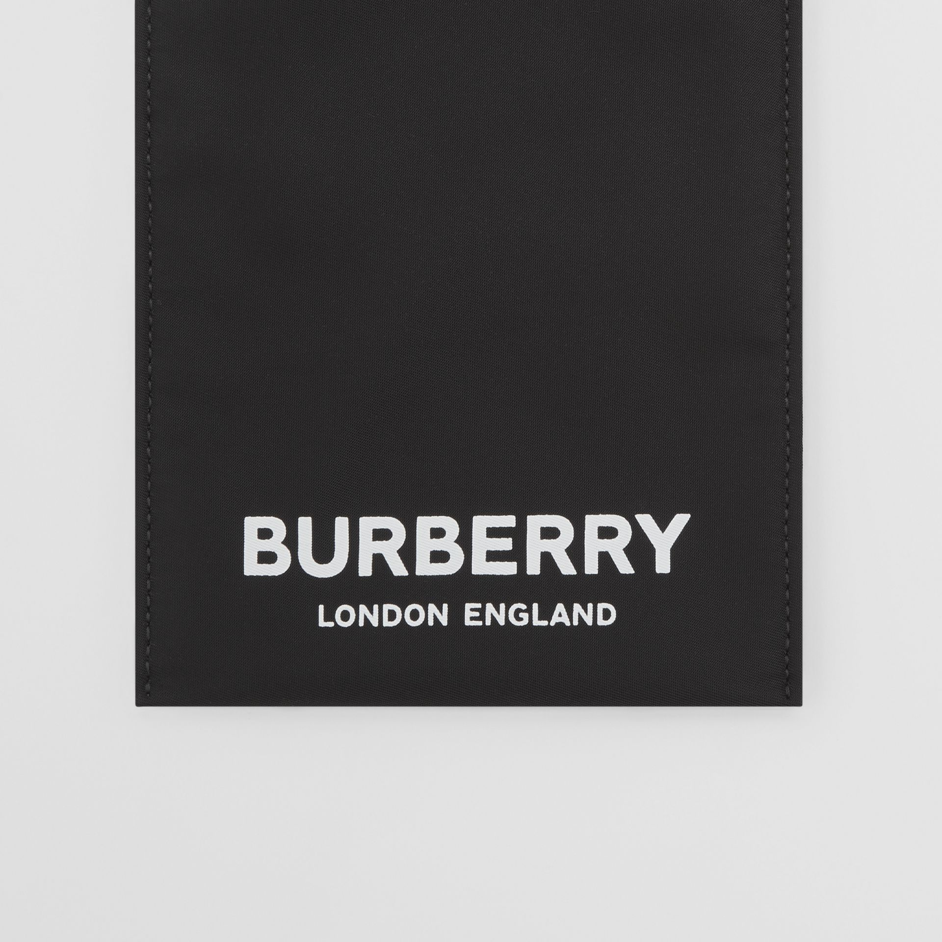 Logo Print Nylon Phone Case in Black - Women | Burberry - gallery image 1