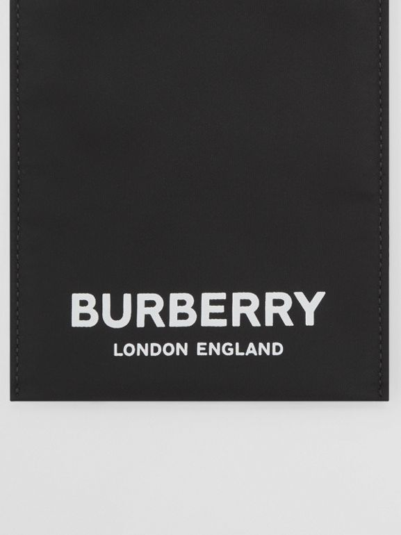 Logo Print Nylon Phone Case in Black - Women | Burberry United States - cell image 1
