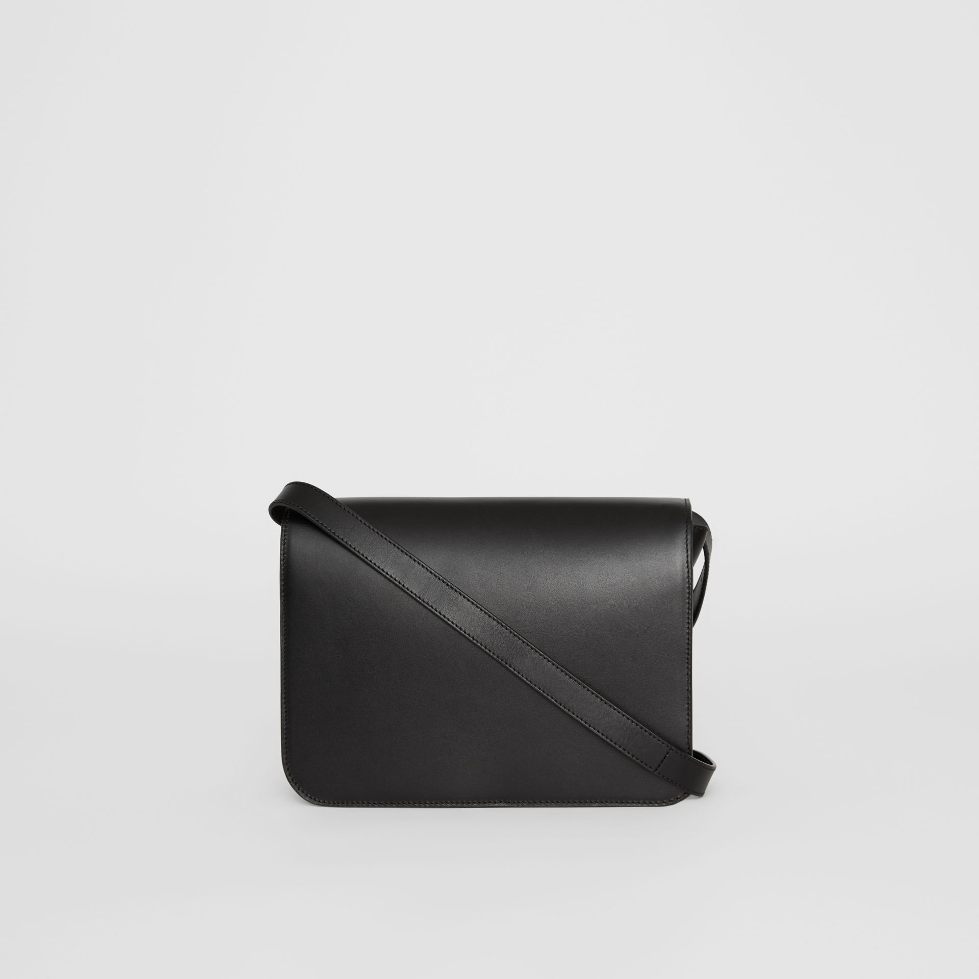 Leather TB Bag in Black - Women | Burberry - gallery image 7