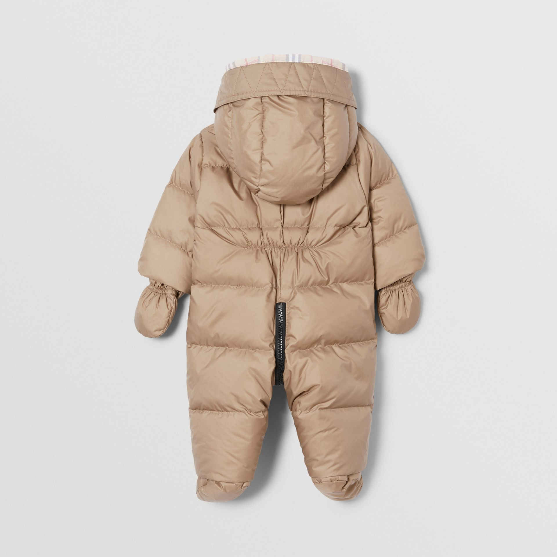 Logo Print Down-filled Puffer Suit in Walnut - Children | Burberry - gallery image 3