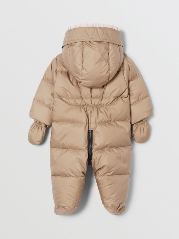 Logo Print Down-filled Puffer Suit in Walnut - Children | Burberry - cell image 3
