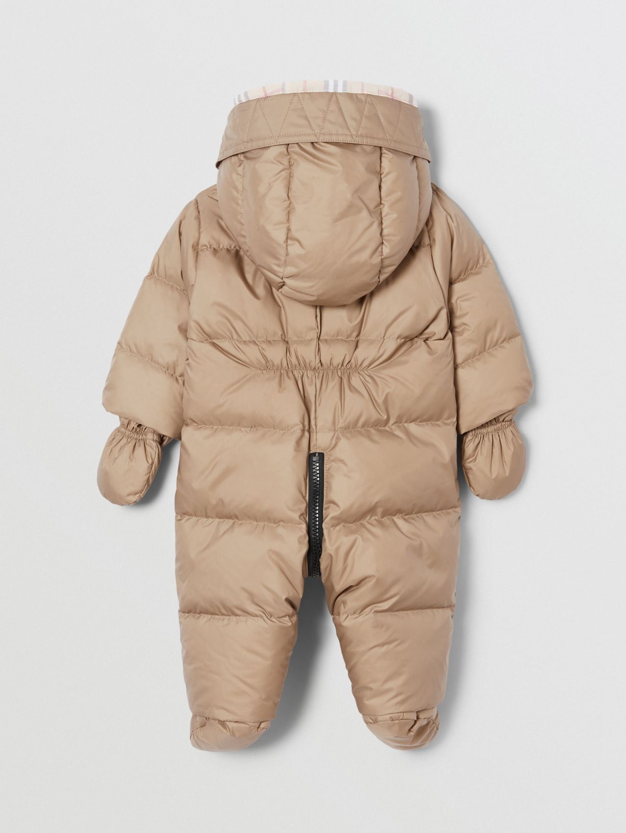 Logo Print Down-filled Puffer Suit in Walnut