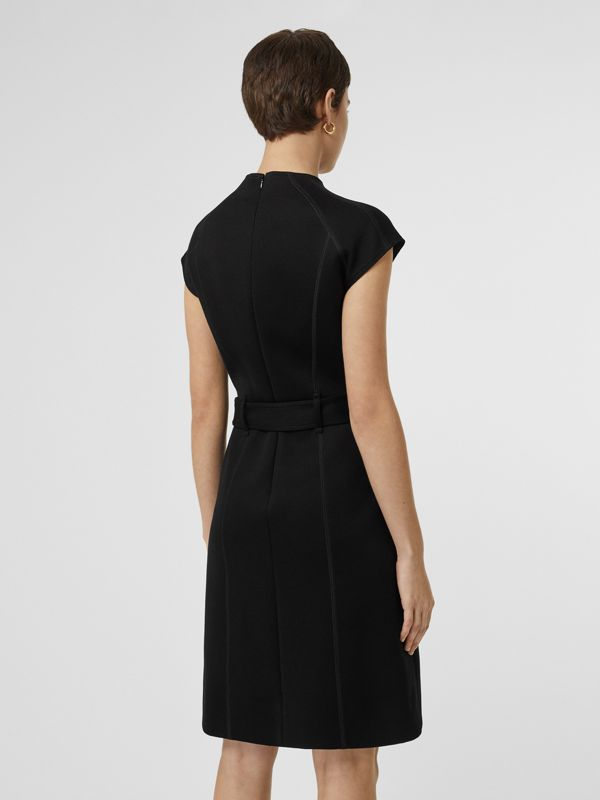 D-ring Detail Bonded Jersey Dress in Black - Women | Burberry Australia - cell image 2