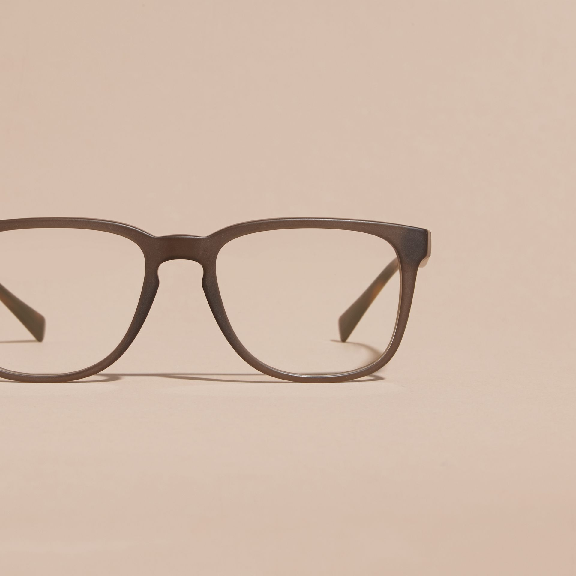Square Optical Frames Olive - gallery image 3