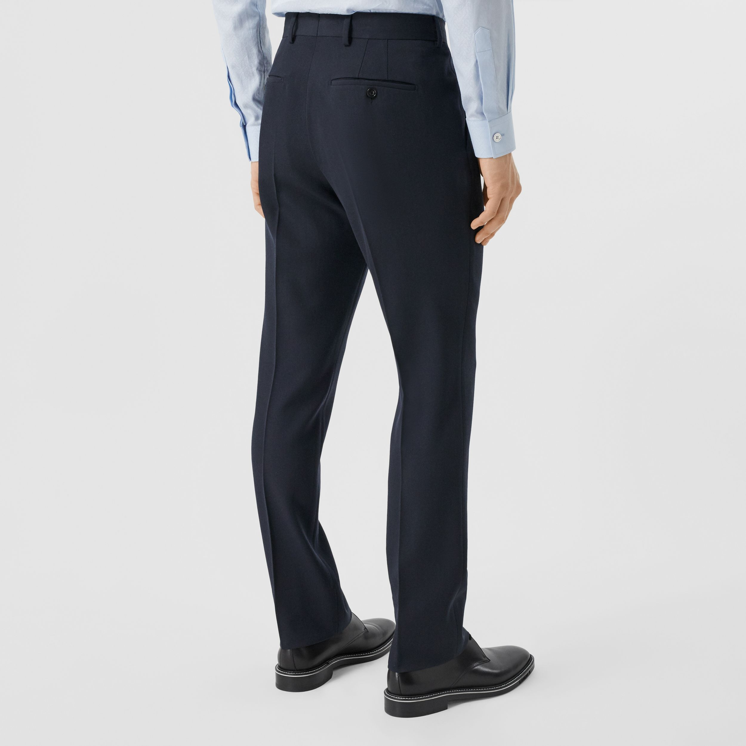 Classic Fit Grain De Poudre Wool Tailored Trousers - Men | Burberry - 3