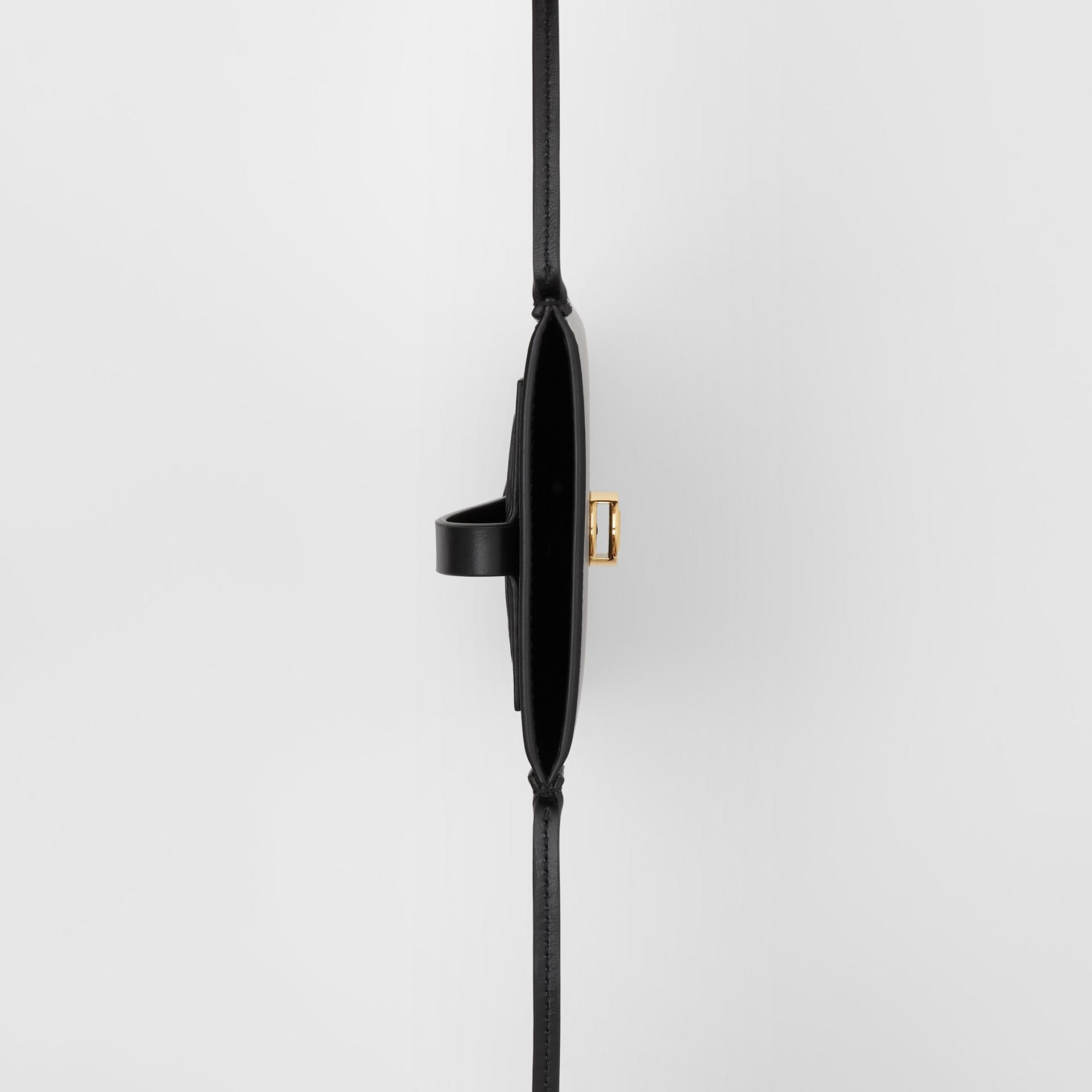 Leather Phone Case with Strap in Black | Burberry United Kingdom - gallery image 5