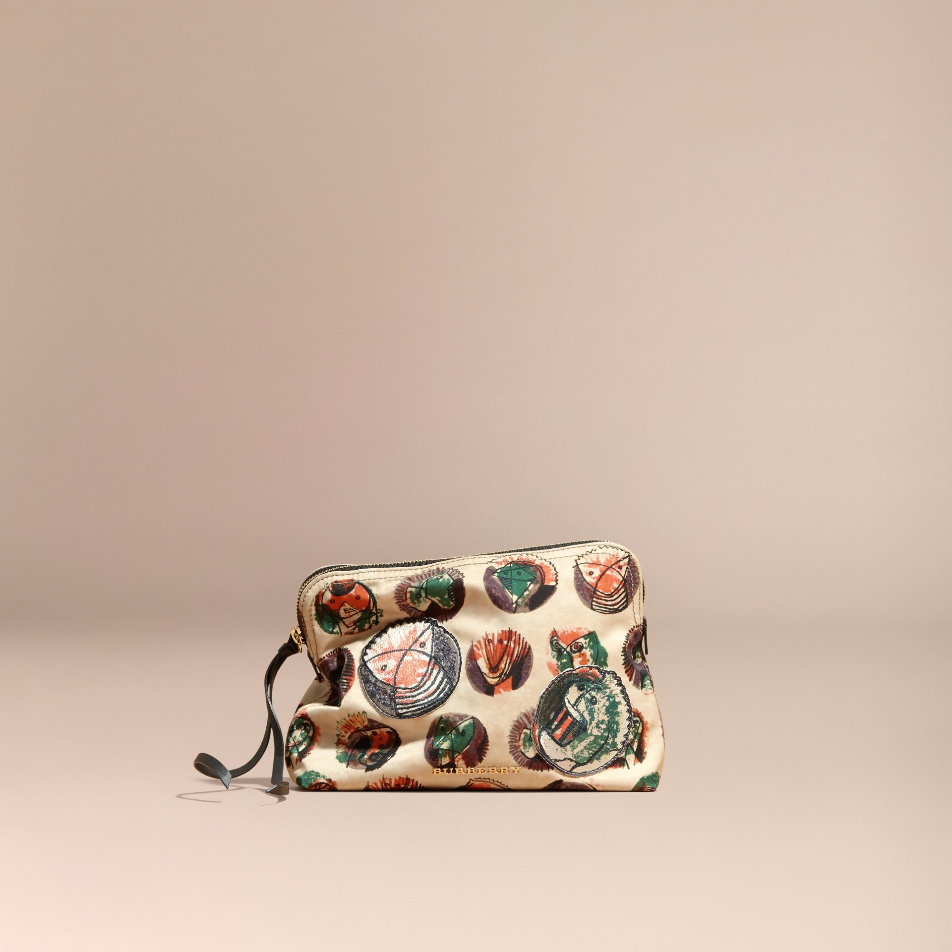 Large Zip-top Pallas Heads Print Pouch in Umber Brown - Women | Burberry - gallery image 8