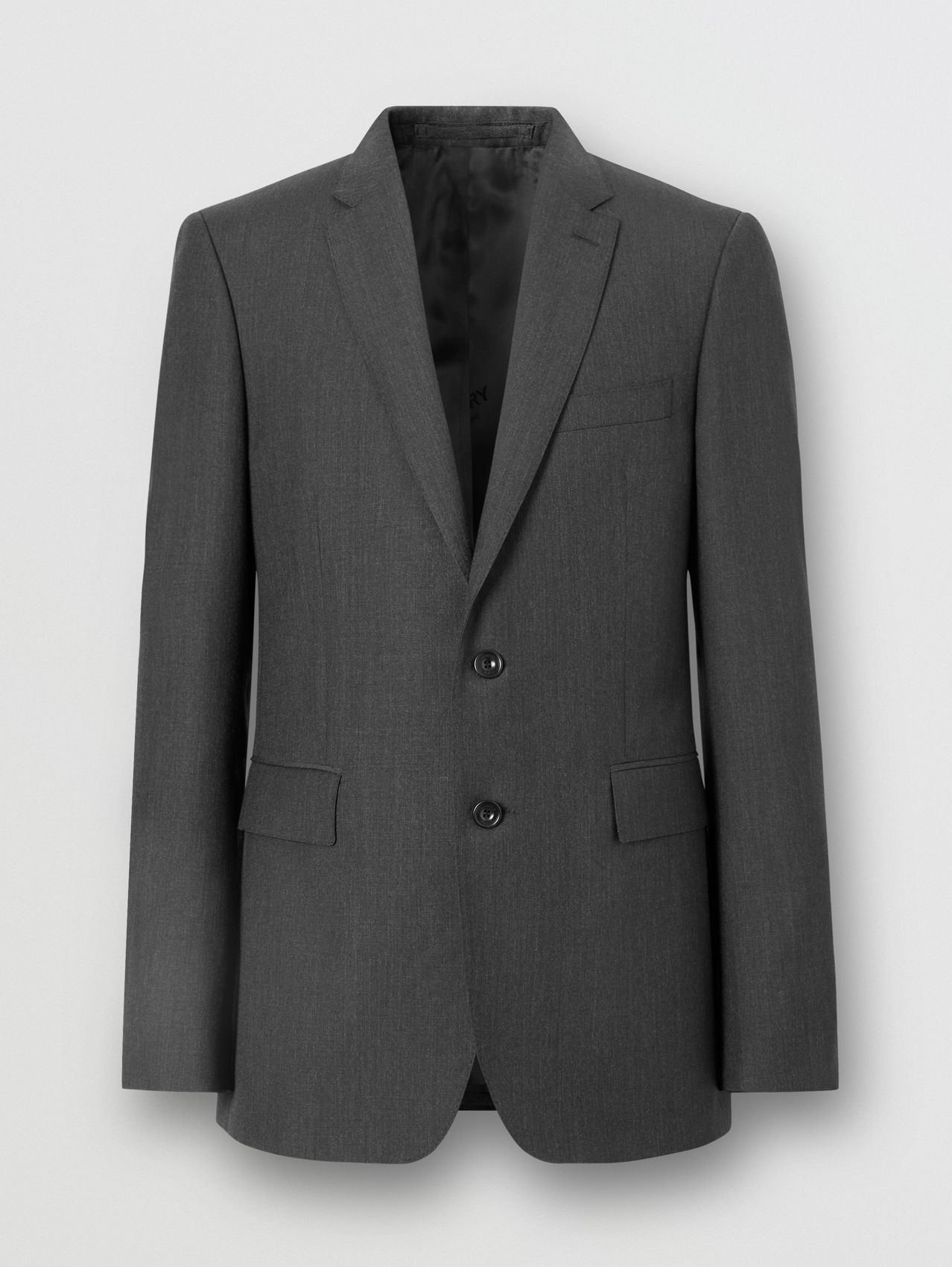 Slim Fit Wool Mohair Suit in Charcoal
