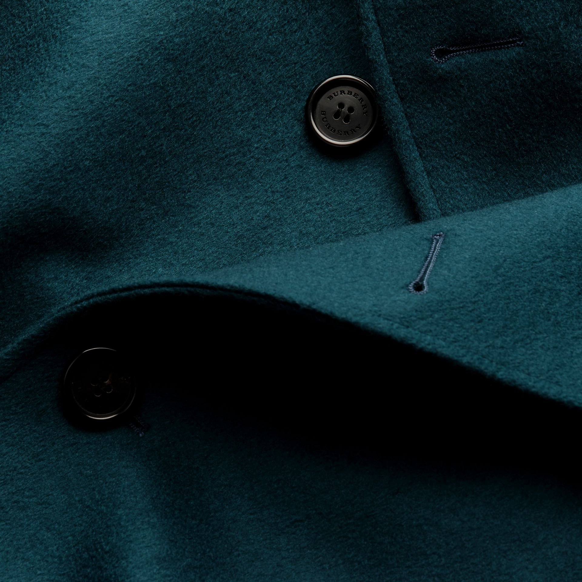 Dark mineral blue Cashmere Trench Coat Dark Mineral Blue - gallery image 2