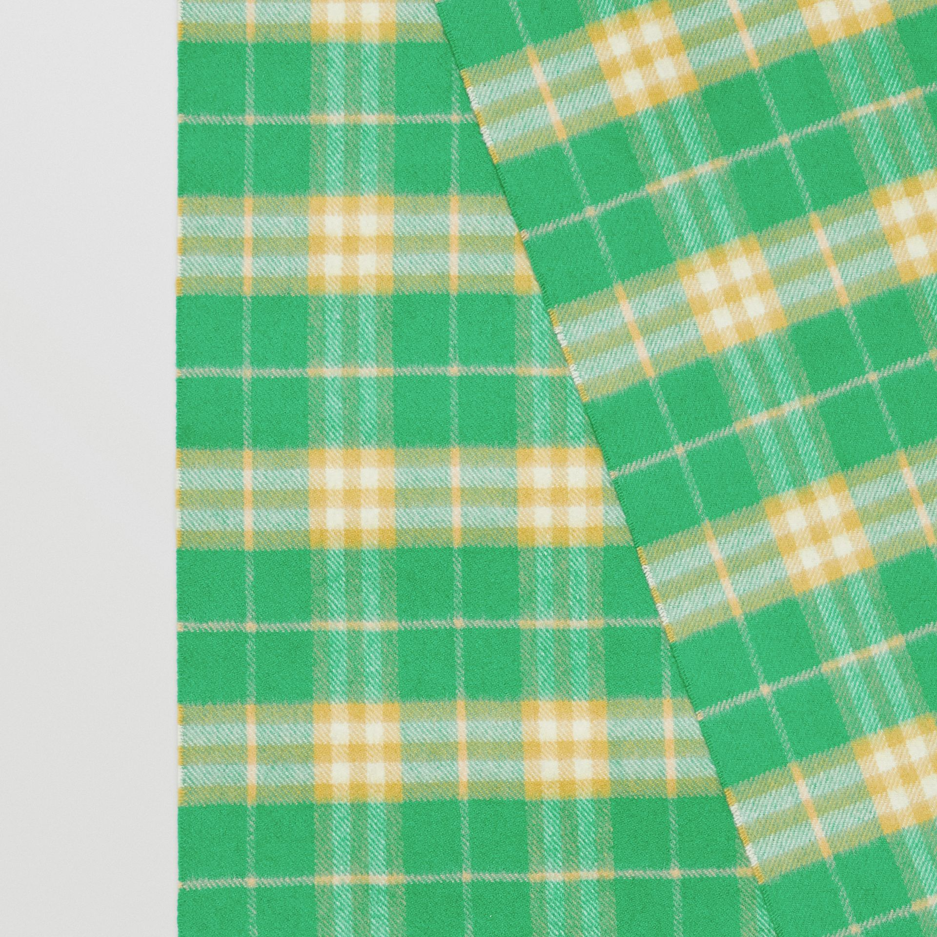 The Classic Vintage Check Cashmere Scarf in Tourmaline Green | Burberry - gallery image 1