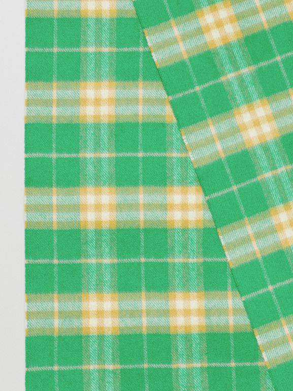 The Classic Vintage Check Cashmere Scarf in Tourmaline Green | Burberry Australia - cell image 1