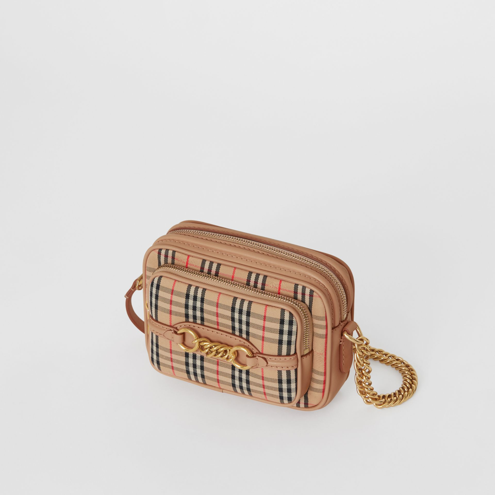 The 1983 Check Link Camera Bag in Peach - Women | Burberry - gallery image 2