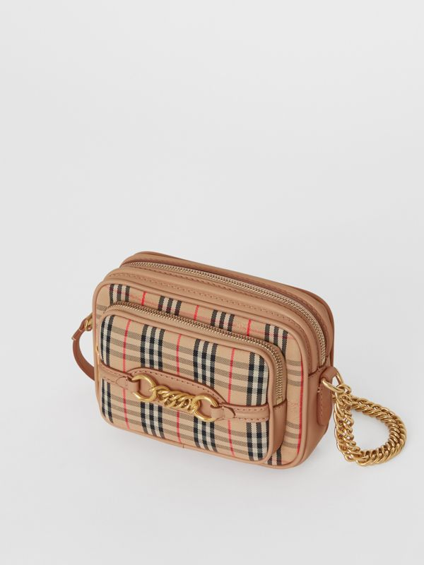 The 1983 Check Link Camera Bag in Peach - Women | Burberry - cell image 2