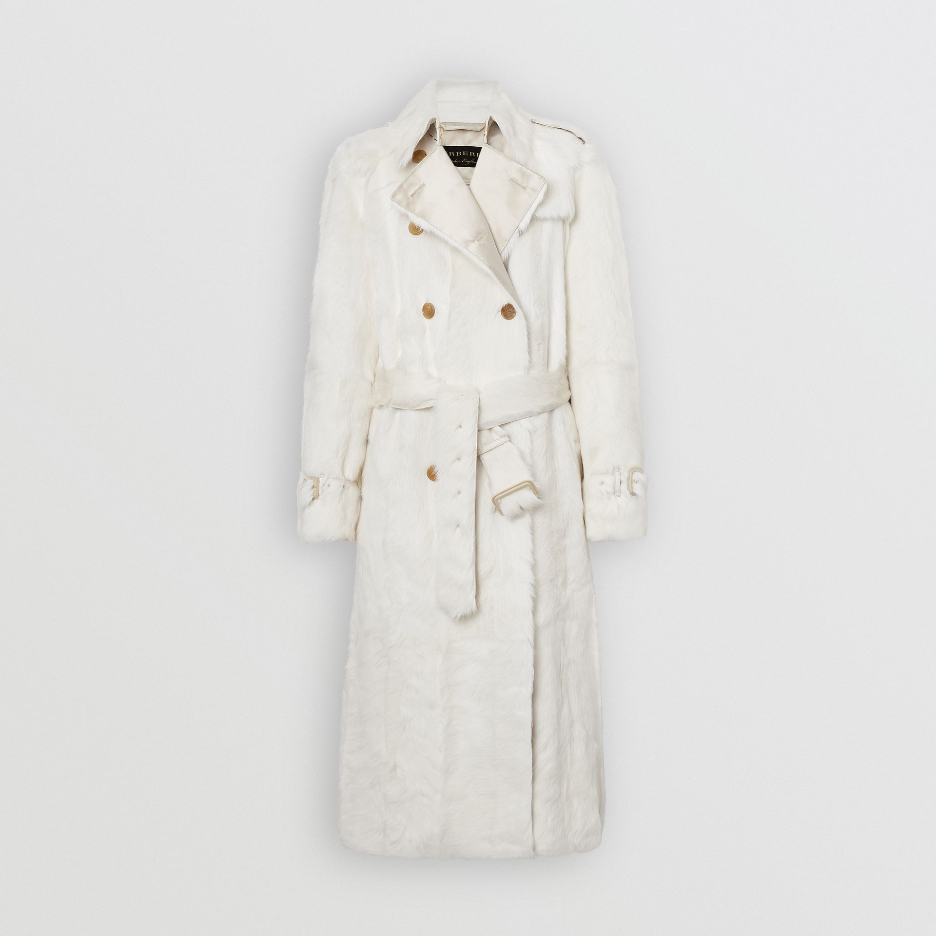 Goat Trench Coat in Ecru - Women | Burberry Singapore - gallery image 3