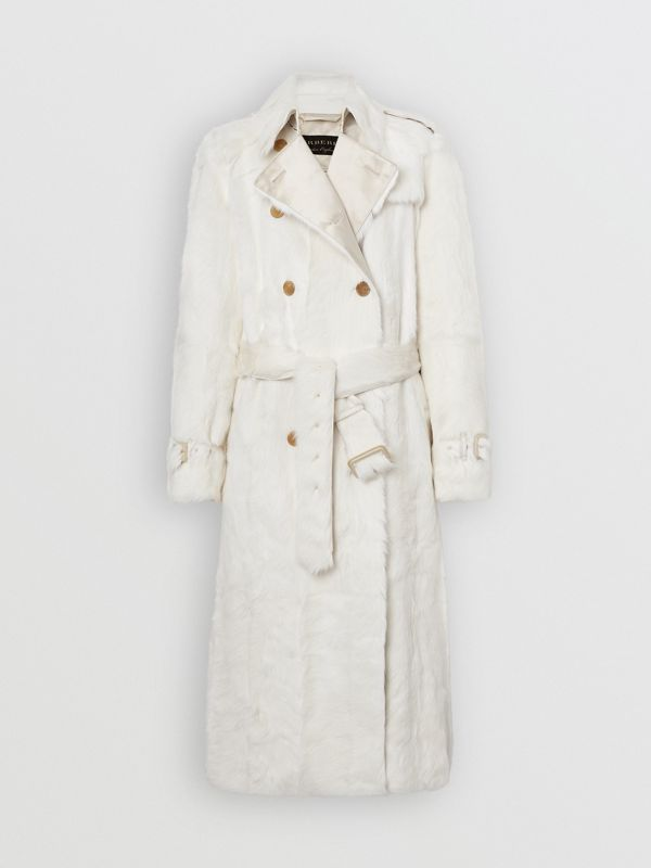 Goat Trench Coat in Ecru - Women | Burberry United Kingdom - cell image 3