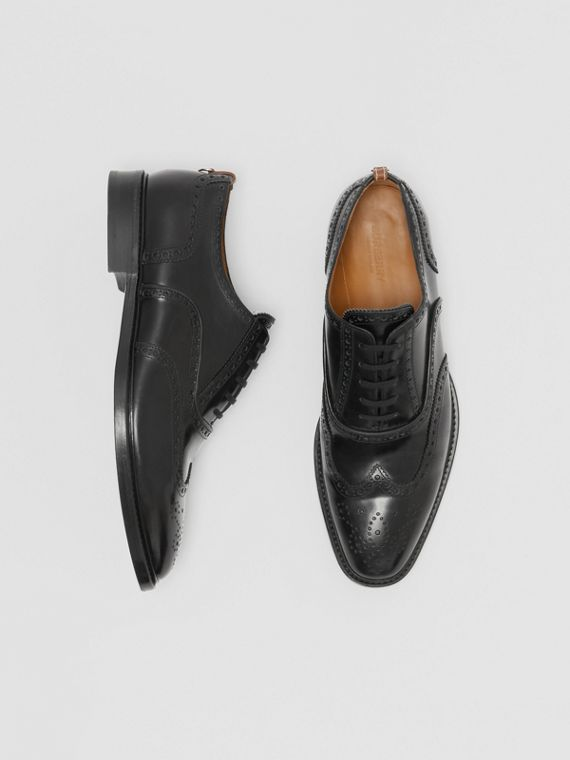 Leather Oxford Brogues in Black