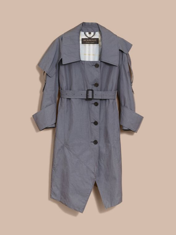 Tropical Gabardine Asymmetric Trench Coat - Women | Burberry - cell image 3
