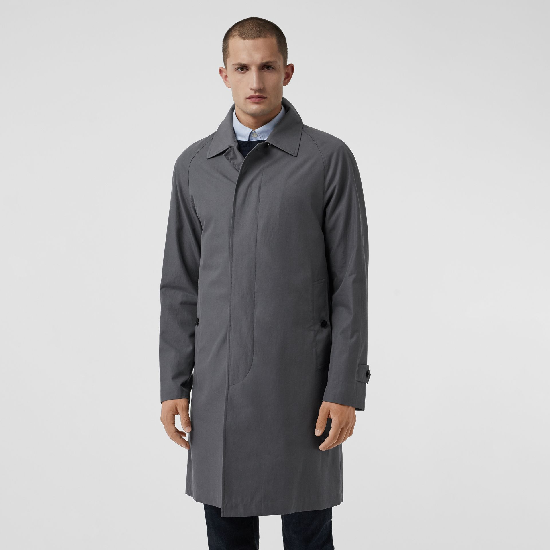 The Camden Car Coat in Mid Grey - Men | Burberry United Kingdom - gallery image 5