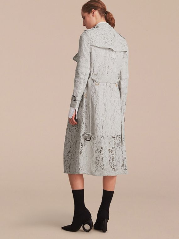Macramé Lace Trench Coat Pale Grey - cell image 2