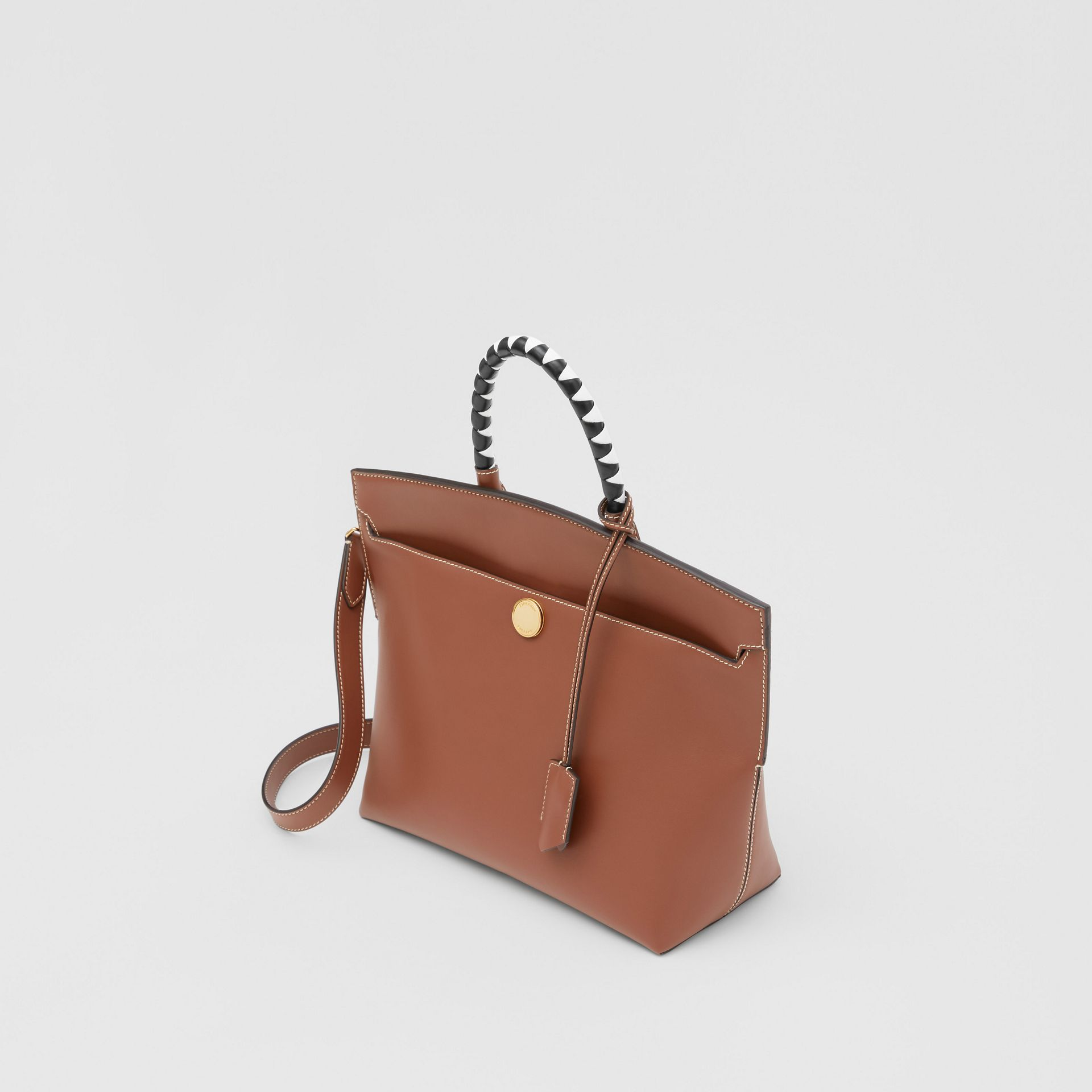 Small Leather Society Top Handle Bag in Tan - Women | Burberry - gallery image 3