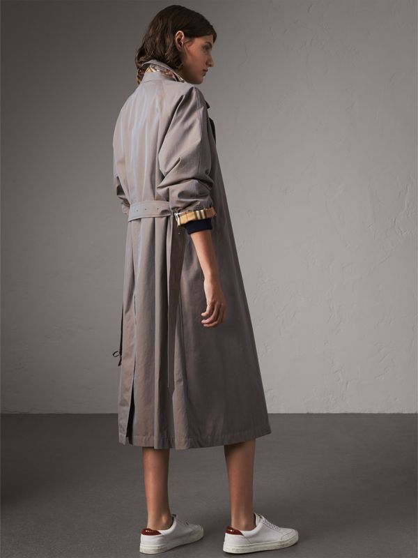 The Brighton Car Coat in Lilac Grey - Women   Burberry - cell image 2