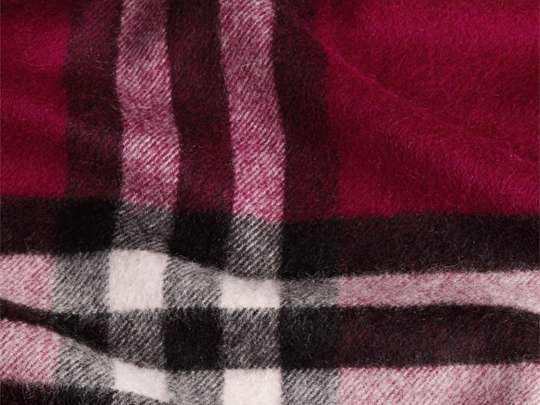 Plum check The Classic Cashmere Scarf in Check Plum - cell image 4